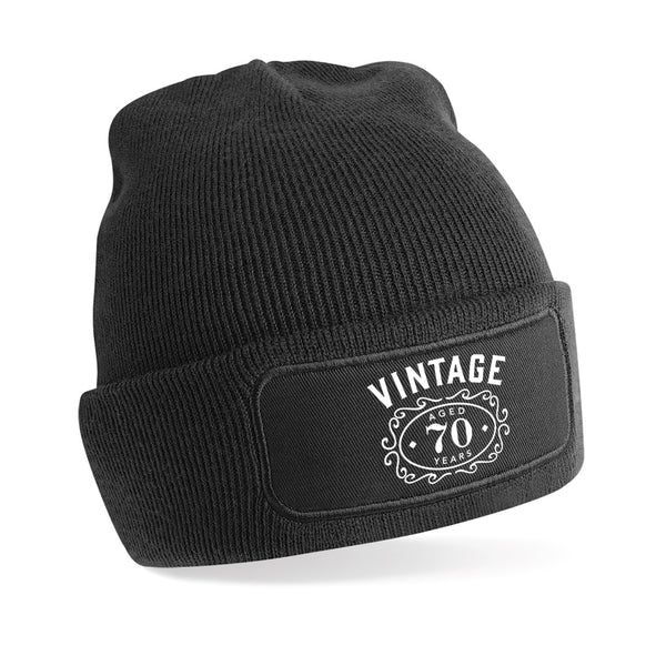 70th Birthday Gift Beanie Hat Idea Novelty Vintage Hat