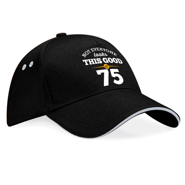 75th Birthday Gift Idea Vintage Hat Baseball Cap With Contrasting Sandwiched Peak