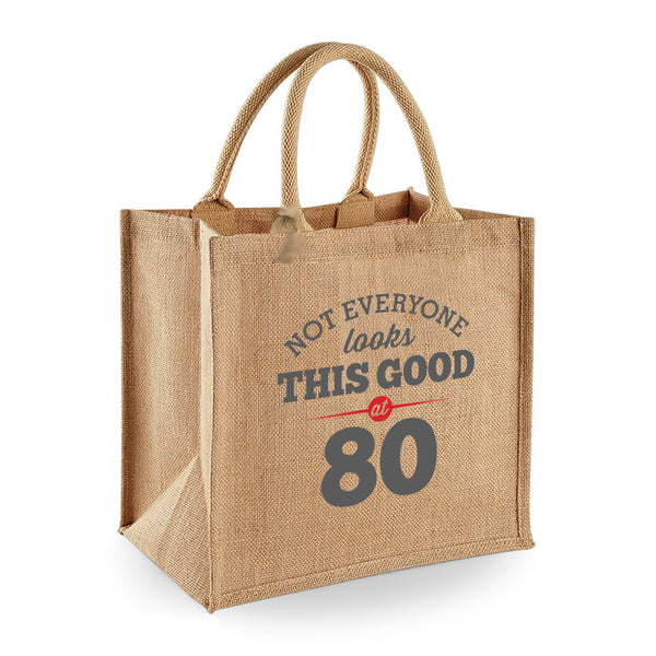 80th Birthday Bag, Gift, Womens Bag, Ladies Shopping Bag, Tote Bag, Birthday Idea, Keepsake