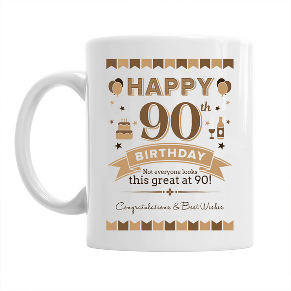 90th Birthday,  Coffee Mug, 90th Birthday Gift, 90th Birthday Idea
