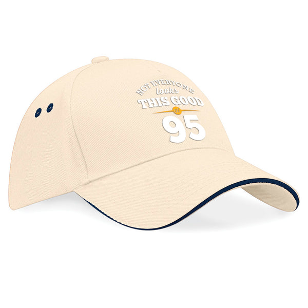 95th Birthday Gift Idea Vintage Hat Baseball Cap With Contrasting Sandwiched Peak