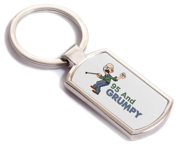 95th Birthday,  Gift For Grumpy Men, Keyring, Birthday Gift Idea, Party Gift