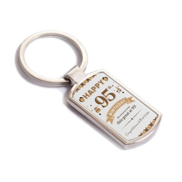95th Birthday, 1924 Birthday Gift For Men, Keyring, Birthday Gift Idea, Party Gift