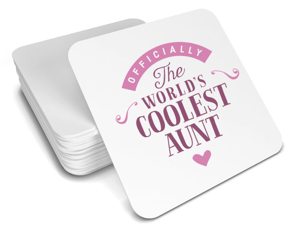 Aunt Gift, Cool Aunt, Aunt Coaster, Birthday Gift For Aunt! Aunt Present, Aunt Birthday Gift, Gift For Aunt!
