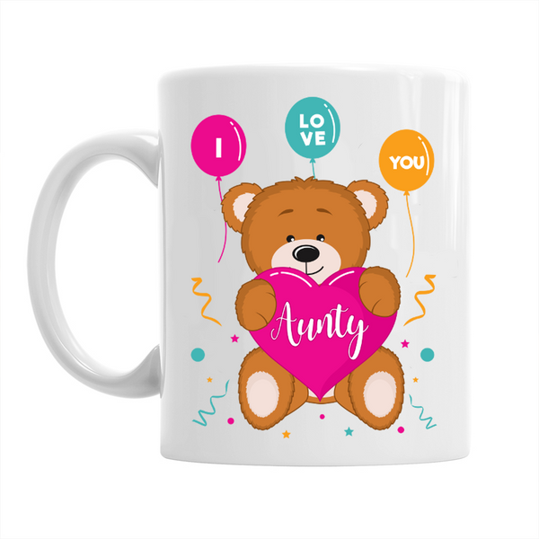 Aunty Gift, Aunty Mug, Birthday Gift For Aunty!  I Love You Aunty