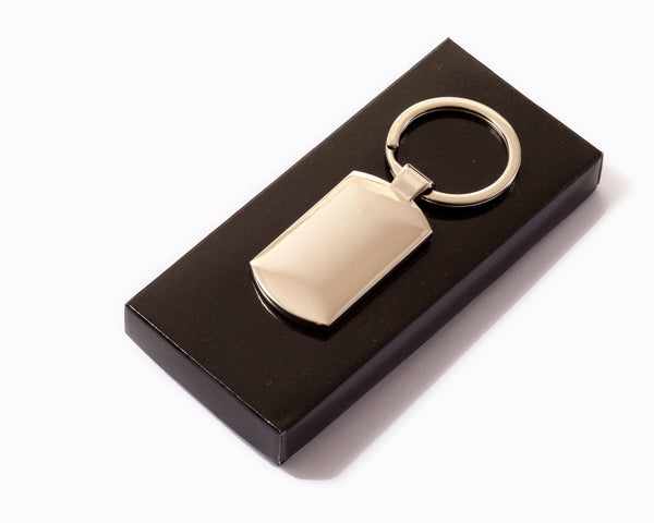 Custom Print Promotional or Gift High Gloss Key Ring with Gift Box
