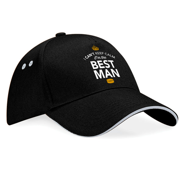 Best Man, Wedding Hat, Wedding Gift, Keepsake Baseball Cap