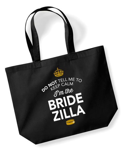 Bride Zilla, Hen Party, Bachelorette Party, Hen Party Bag, Bride Zilla gifts, Hen Do Gifts, Ideas For Bride Zilla, Bride Zilla present, Shopping Bag, Bride Zilla Bag, Tote Bag, Hen Party Gift Bag, Bride Zilla keepsake, Team Bride
