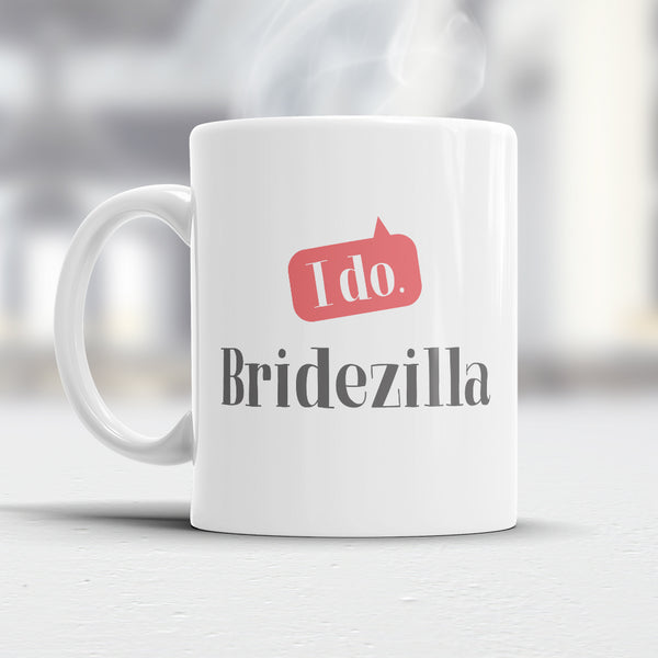 BrideZilla, Bride Gift, Bride Mug, Bachelorette Party, Alternative Bride Glass, Bachelorette Party Gift, Wedding Idea, Keep Calm Bride Mug