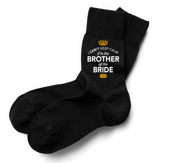 Brother of the Bride, Brother of the Bride Socks, Stag Party, Stag Night, Brother of the Bride Gifts, Stag Do Gifts, Wedding Gift Idea, Brother of the Bride Present, Wedding keepsake, Wedding Socks, Size 6-11