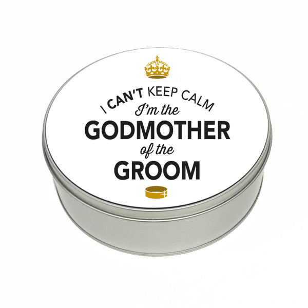 Godmother Of The Groom Wedding Gift Box Present Idea Keepsake Tin Hen Do Night Party