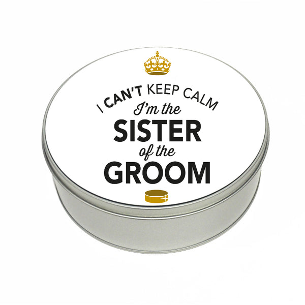 Sister Of The Groom Wedding Gift Box Present Idea Keepsake Tin Hen Do Night Party