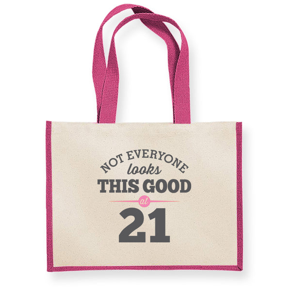 21st Birthday Bag, Gift, Womens Bag, Ladies Shopping Bag, Tote Bag, Keepsake