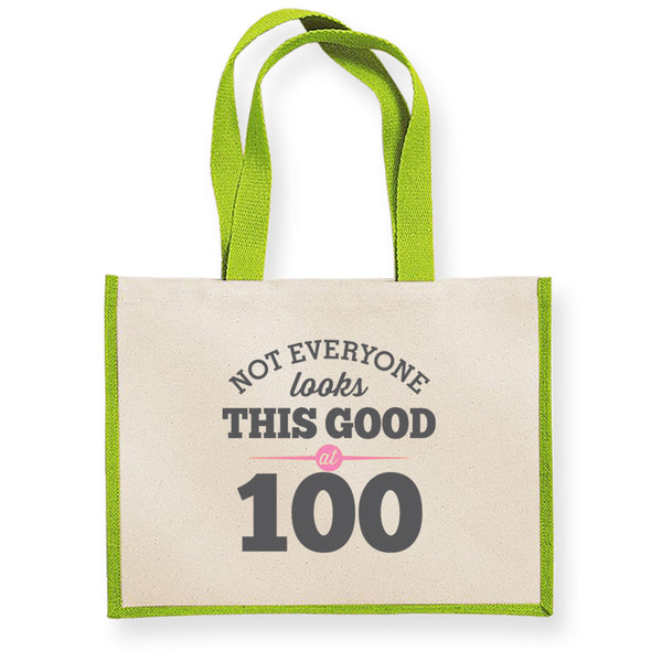 100th Birthday Bag, Gift, Womens Bag, Ladies Shopping Bag, Tote Bag, Keepsake