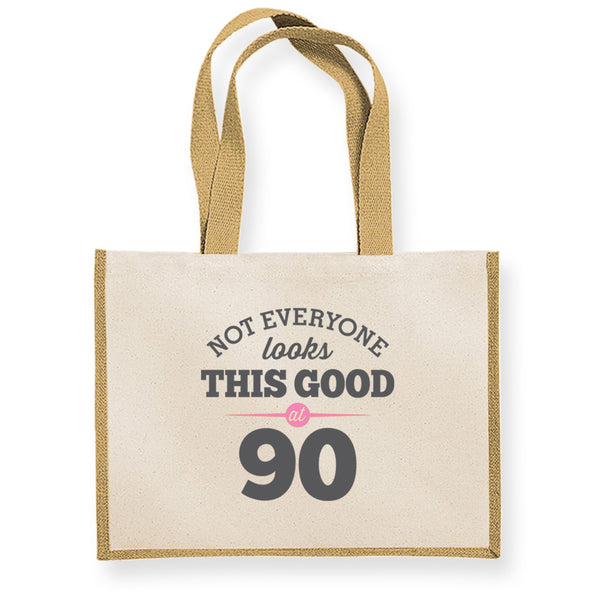 90th Birthday Bag, Gift, Womens Bag, Ladies Shopping Bag, Tote Bag, Keepsake
