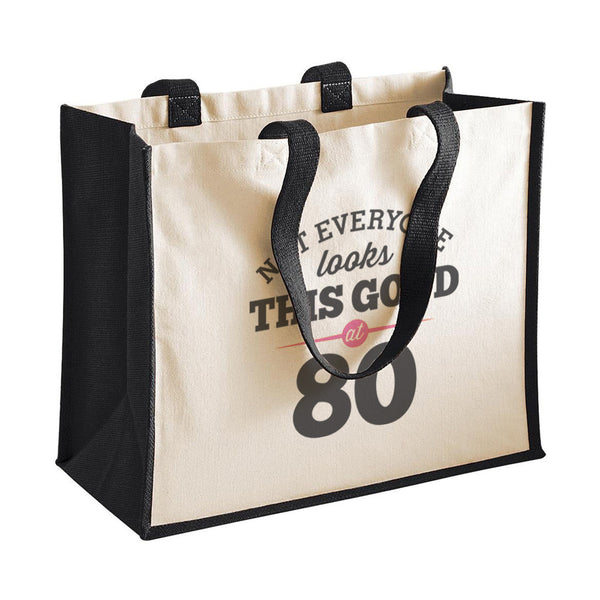 80th Birthday Bag, Gift, Womens Bag, Ladies Shopping Bag, Tote Bag, Keepsake