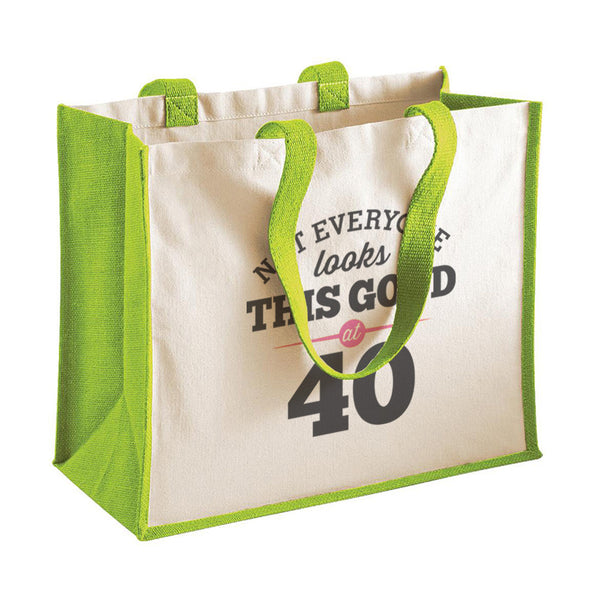 40th Birthday Bag, Gift, Womens Bag, Ladies Shopping Bag, Tote Bag, Keepsake