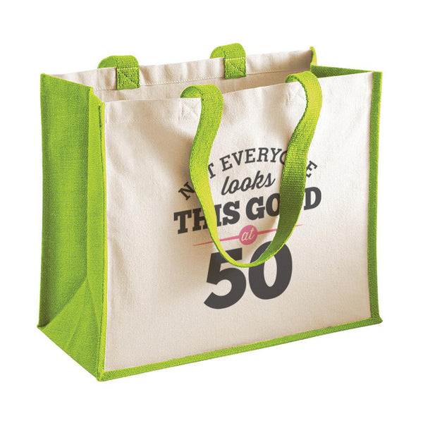 50th Birthday Bag, Gift, Womens Bag, Ladies Shopping Bag, Tote Bag, Keepsake
