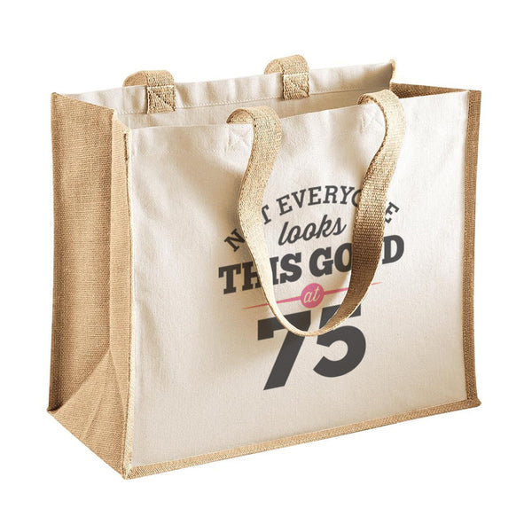 75th Birthday Bag, Gift, Womens Bag, Ladies Shopping Bag, Tote Bag, Keepsake