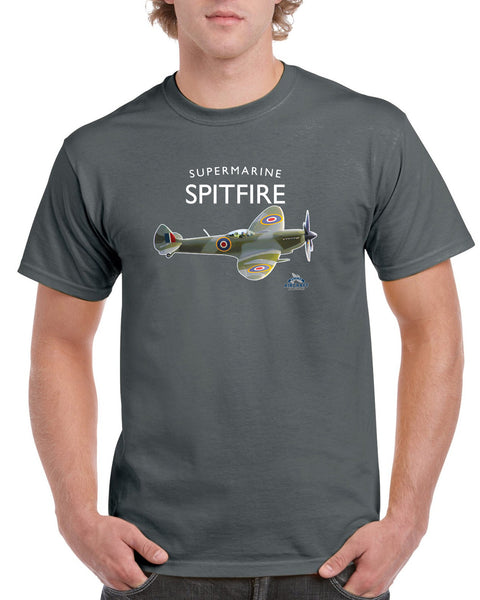 Spitfire Gift, Flying Legend, Supermarine T Shirt, WWII Aircraft Gift