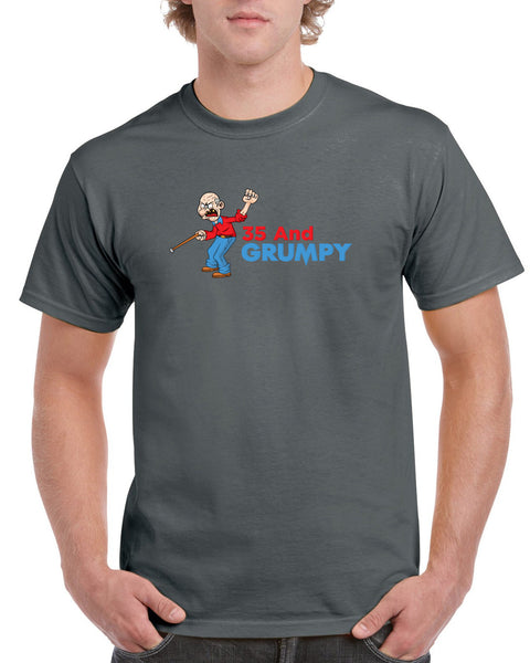 Men's 35th Birthday T Shirt Gift - Grumpy