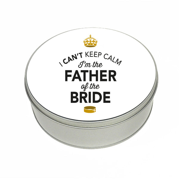 Father Of The Bride Wedding Gift Box Present Idea Keepsake Tin Stag Do Night Party