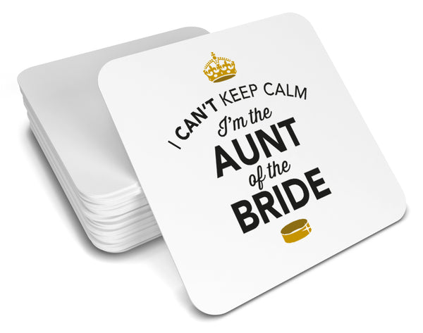 Aunt of The Bride, Keepsake, Wedding Gift Idea, High Gloss Drinks Coaster