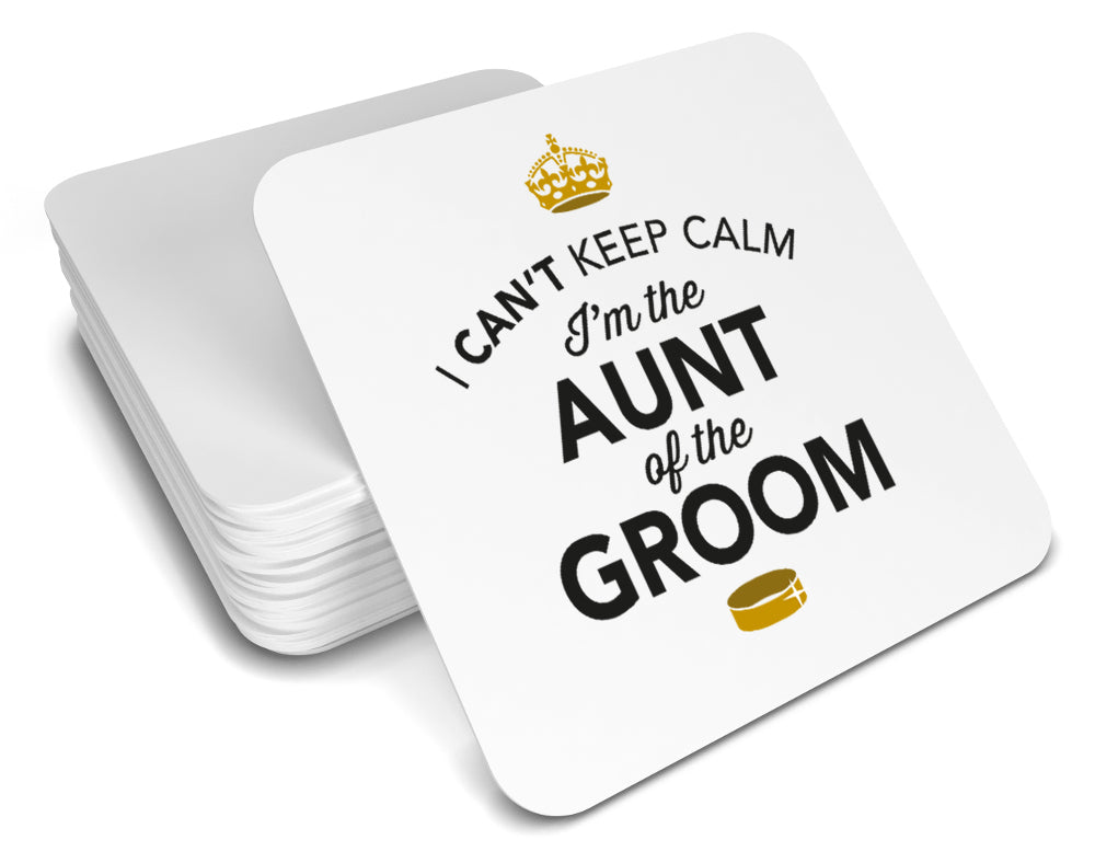 Aunt of the Groom, Keepsake, Wedding Gift Idea, High Gloss Drinks Coaster