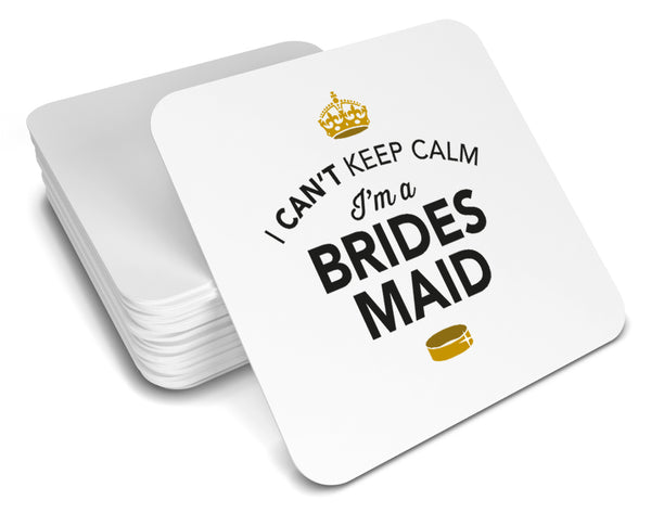 Bridesmaid, Keepsake, Wedding Gift Idea, High Gloss Drinks Coaster
