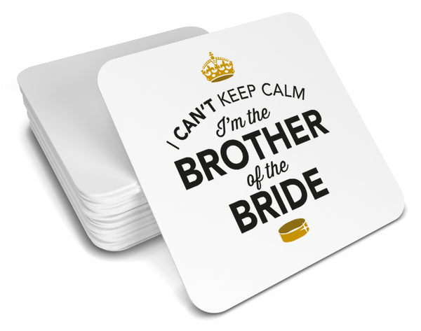 Brother of the Bride, Keepsake, Wedding Gift Idea, High Gloss Drinks Coaster
