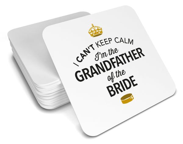 Grandfather of the Bride, Keepsake, Wedding Gift Idea, High Gloss Drinks Coaster