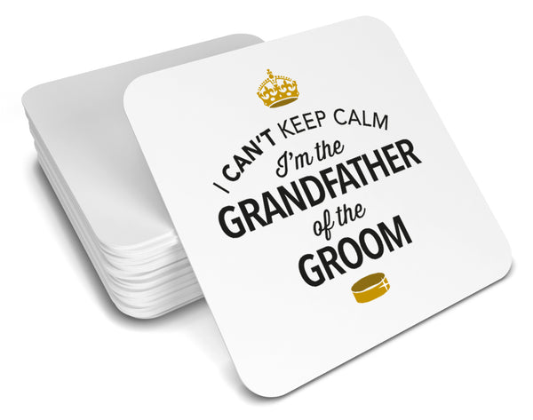 Grandfather of the Groom, Keepsake, Wedding Gift Idea, High Gloss Drinks Coaster