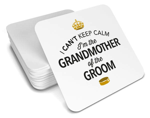 Grandmother of the Groom, Keepsake, Wedding Gift Idea, High Gloss Drinks Coaster