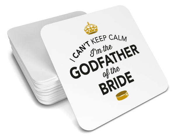 Godfather of Bride , Keepsake, Wedding Gift Idea, High Gloss Drinks Coaster