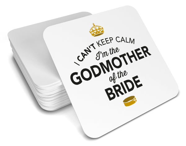 Godmother of the Bride, Keepsake, Wedding Gift Idea, High Gloss Drinks Coaster