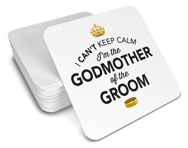 Godmother of the Groom, Keepsake, Wedding Gift Idea, High Gloss Drinks Coaster