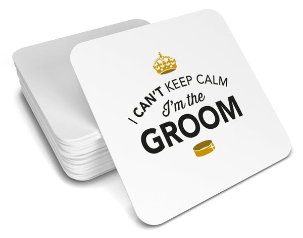 Groom, Keepsake, Wedding Gift Idea, High Gloss Drinks Coaster