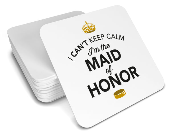 Maid of Honor, Keepsake, Wedding Gift Idea, High Gloss Drinks Coaster