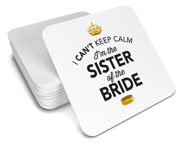 Sister of the Bride, Keepsake, Wedding Gift Idea, High Gloss Drinks Coaster