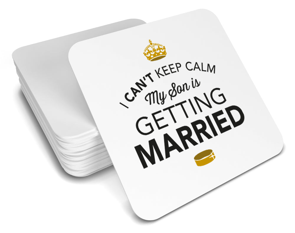 Son is getting married, Keepsake, Wedding Gift Idea, High Gloss Drinks Coaster