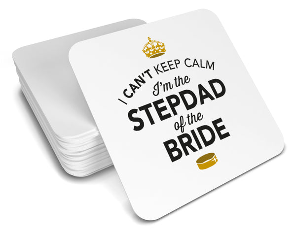 Stepdad of the Bride, Keepsake, Wedding Gift Idea, High Gloss Drinks Coaster