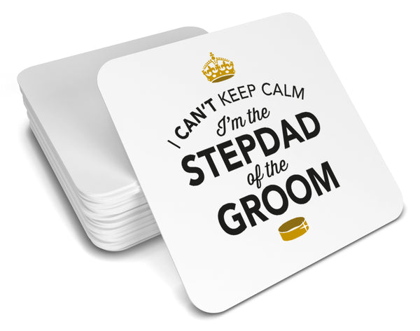 Stepdad of the Groom, Keepsake, Wedding Gift Idea, High Gloss Drinks Coaster