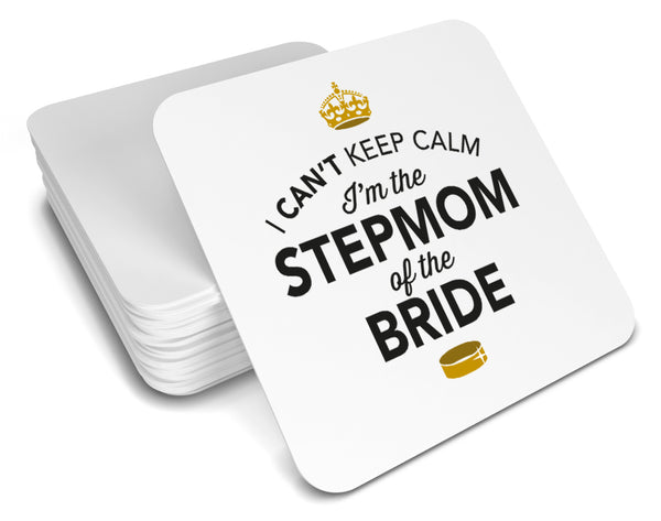 Stepmom of the Bride, Keepsake, Wedding Gift Idea, High Gloss Drinks Coaster