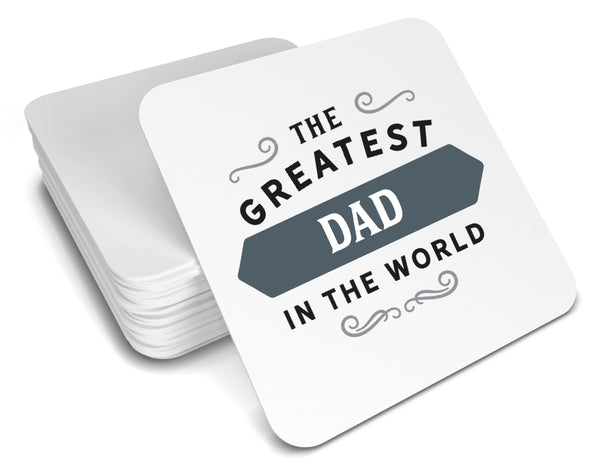 Dad Gift, Greatest Dad, Dad Coaster, Birthday Gift For Dad! Dad Present, Dad Birthday Gift, Gift For Dad!