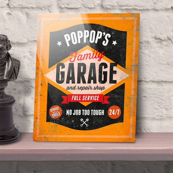 PopPops Gift, Birthday Gift For PopPops! PopPops Personalized Garage Sign, Present, New PopPops Gift, Picture Frame, PopPops Christmas Gift