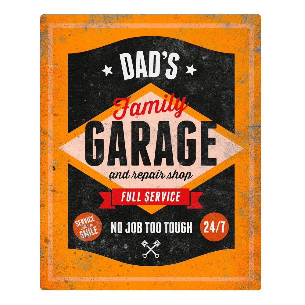 Dad Gift Daddy Birthday For Dads Garage Repair Shop Pre Design Invent Print