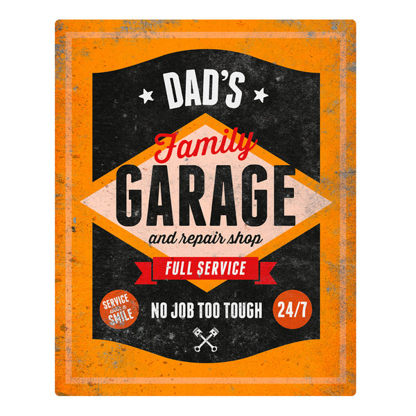 Dad Gift, Daddy, Birthday Gift For Dad! Dad's Garage & Repair Shop Present, New Dad Gift, Dad To Be, Dad Picture Frame, Dad Christmas Gift