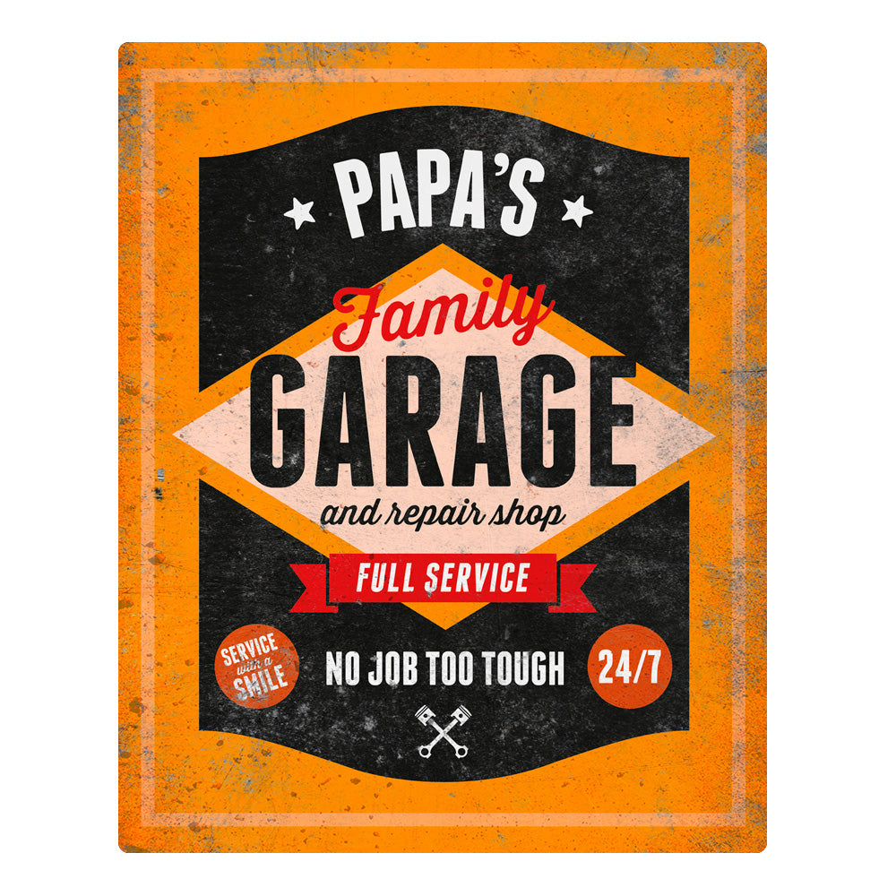 Papa Gift Birthday For PaPa PaPas Personalised Garage Sign Pr Design Invent Print