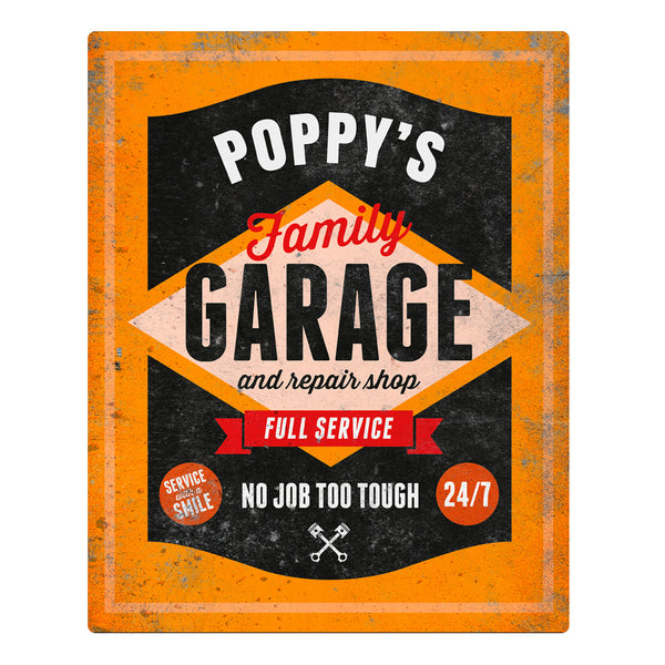 Poppy Gift, Birthday Gift For Poppy! Garage & Repair Shop Present, Poppy Picture Frame, Poppy Christmas Gift