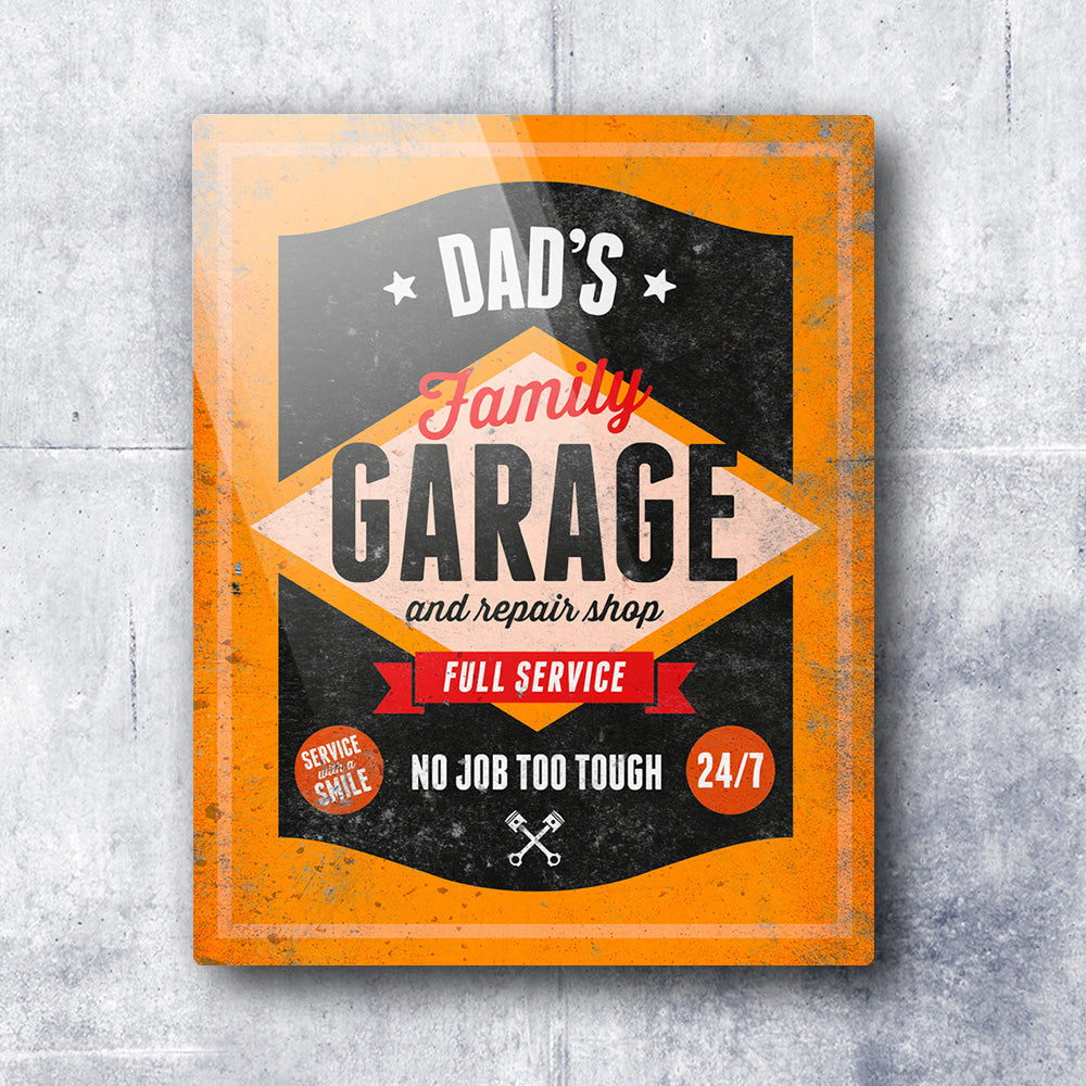 Dad Gift Daddy Birthday For Dads Garage Repair Shop Present New To Be Picture Frame Christmas